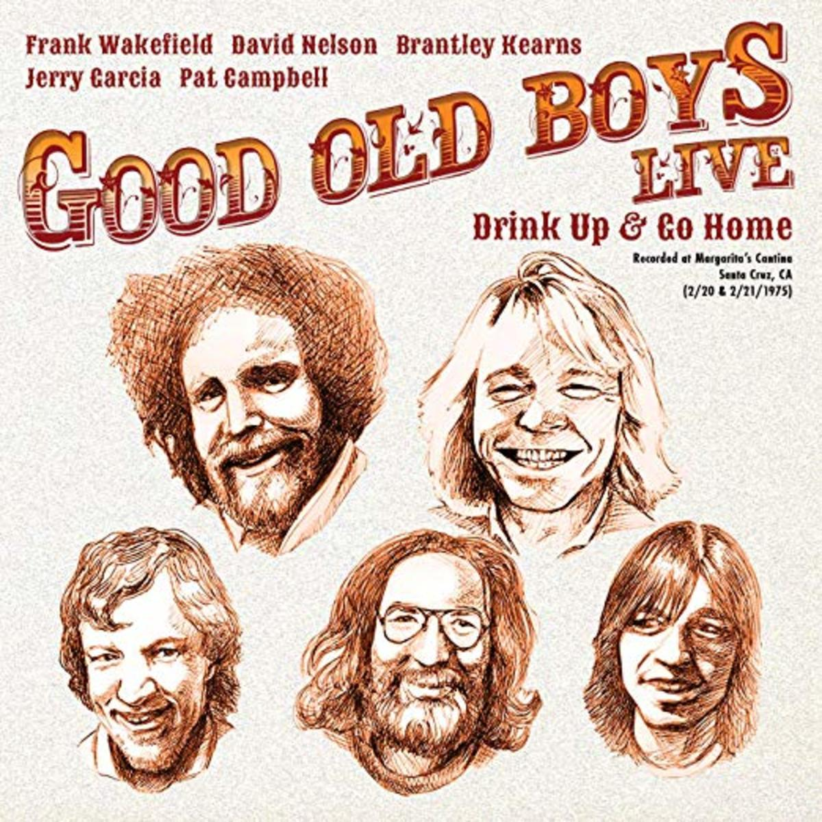 The Good Old Boys live album, which had the lineup (clockwise from top left): David Nelson, Frank Wakefield, Brantley Kearns, Jerry Garcia and Pat Campbell.