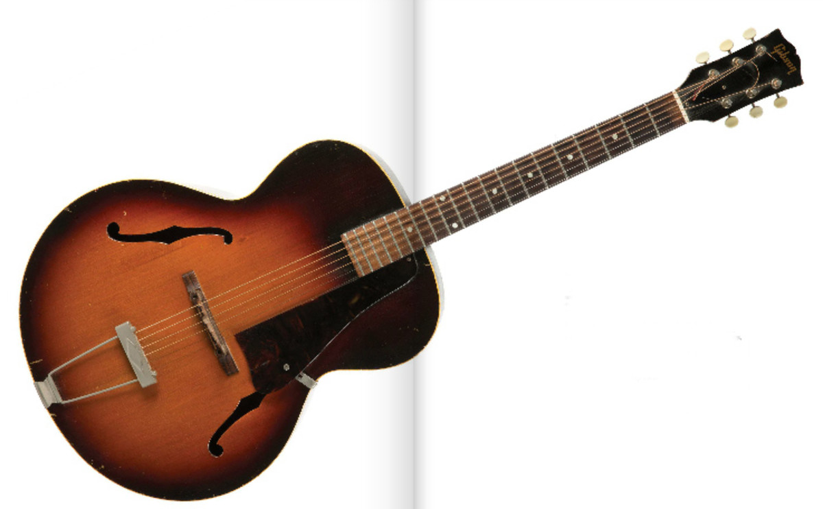 Prince's 1959 Gibson L48 acoustic guitar. Photo courtesy of Julien's Auctions.
