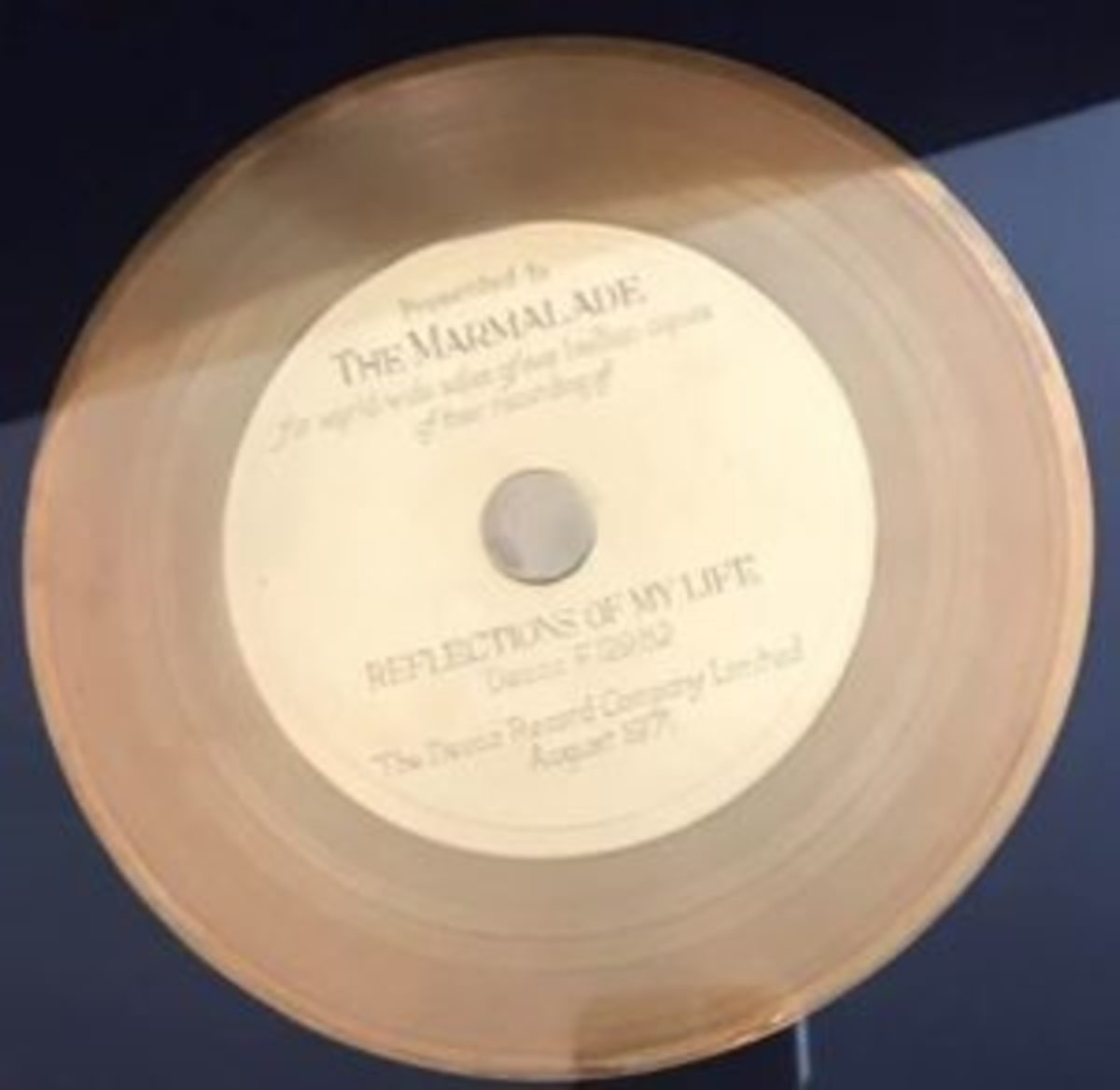 Gold record, courtesy of Tracey McAleese-Gorman