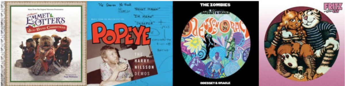 VARÈSE SARABANDE RECORDS BLACK FRIDAY RELEASES: Emmet Otter's Jug-Band Christmas – Paul Williams, Popeye: The Harry Nilsson Demos – Harry Nilsson, Odessey & Oracle – The Zombies (Picture Disc), Fritz the Cat – Various Artists (Picture Disc)