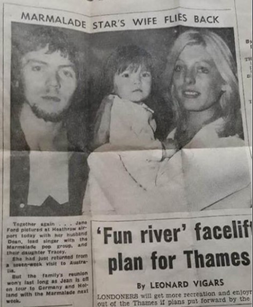 Early '70s, dad Dean, daughter Tracey, mom Jane, courtesy of Tracey McAleese-Gorman.