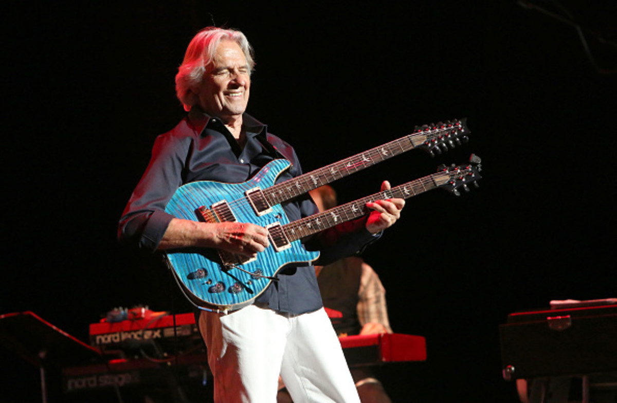 John McLaughlin performs onstage at Royce Hall on December 9, 2017 in Los Angeles, California. (Photo by Rachel Murray/Getty Images for UCLA's Center for the Art of Performance)