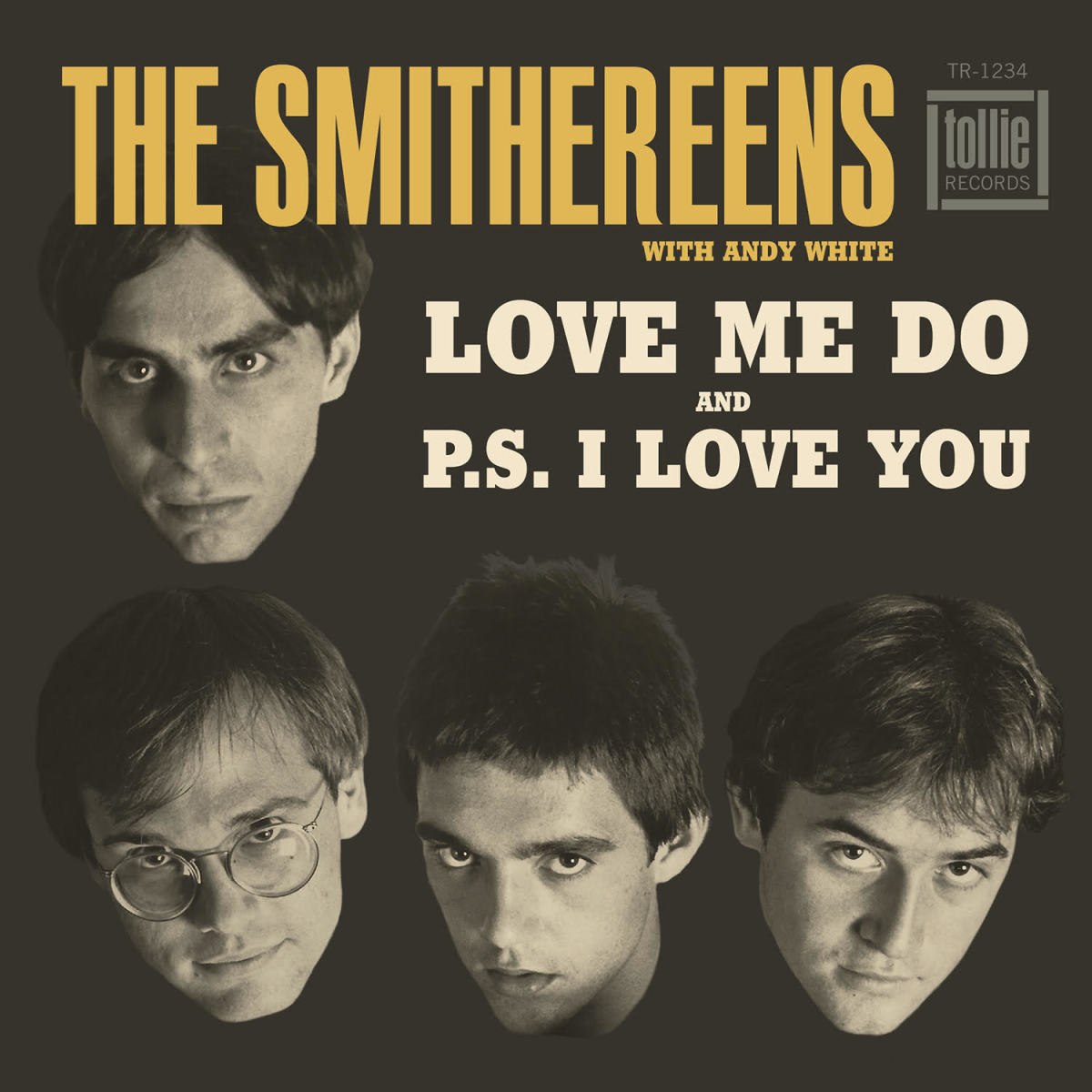 """The picture sleeve of The Smithereens' """"Love Me Do / P.S. I Love You"""" 45 can be seen here."""