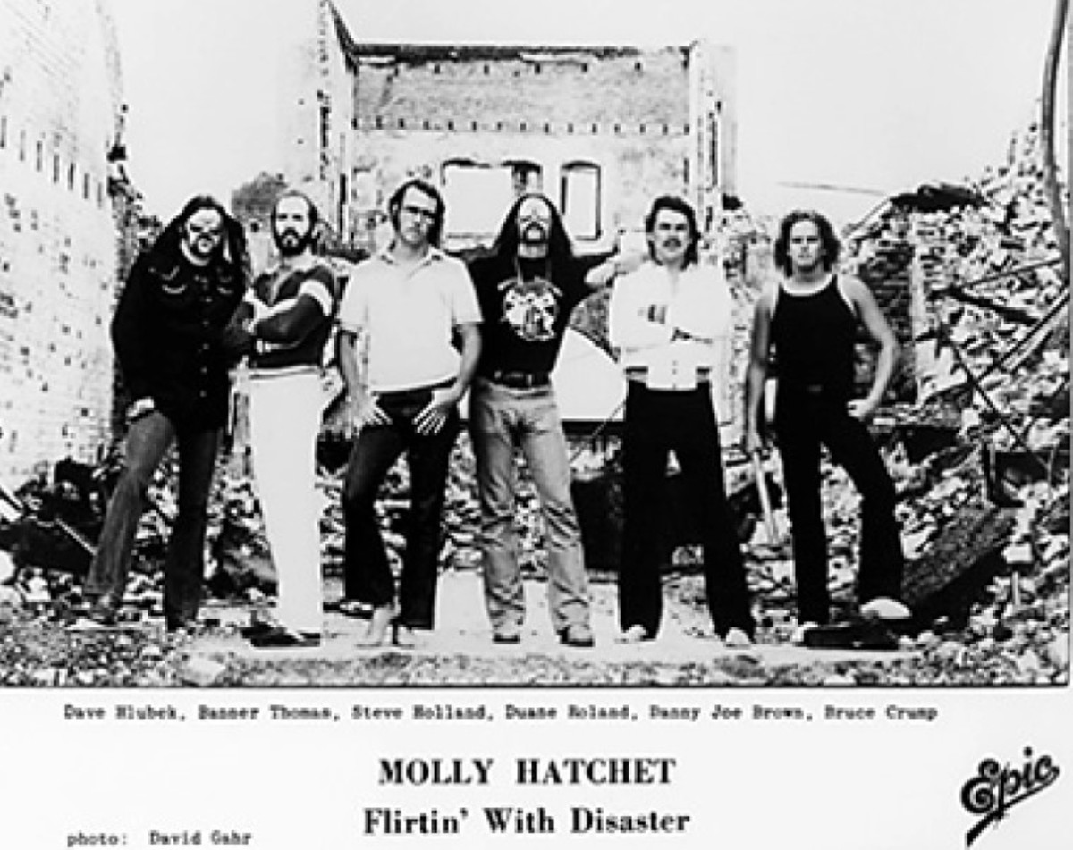Above photo L to R: Dave Hlubek, guitar, died 2017, Banner Thomas, bass, died 2017, Steve Holland, guitar, died 2020, Duane Roland, guitar, died 2006, Danny Joe Brown, vocals, died 2005, Bruce Crump, drums, died 2015