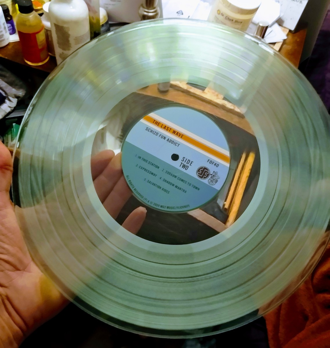 The translucent vinyl for the special edition of The Last Wave.