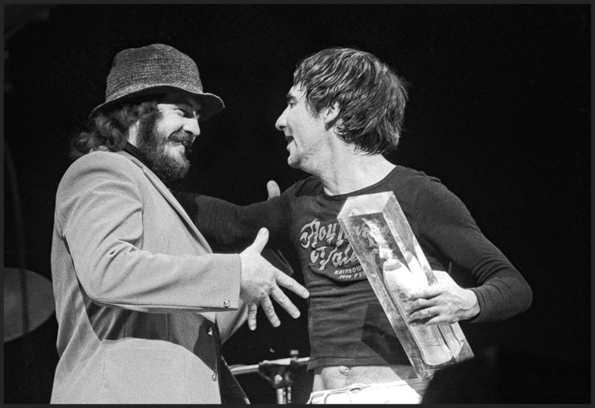 John Bonham and Keith Moon. Photo by Dick Barnatt/Redferns.