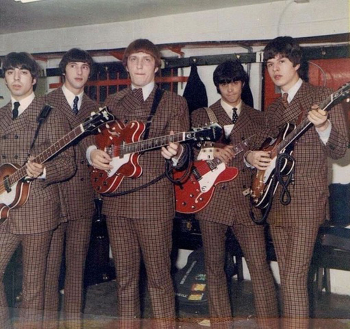The Buckinghams in 1967 (L-R): Nick Fortuna, John Poulos, Marty Grebb, Dennis Tufano and Carl Giammarese. Photo courtesy of The Buckinghams.