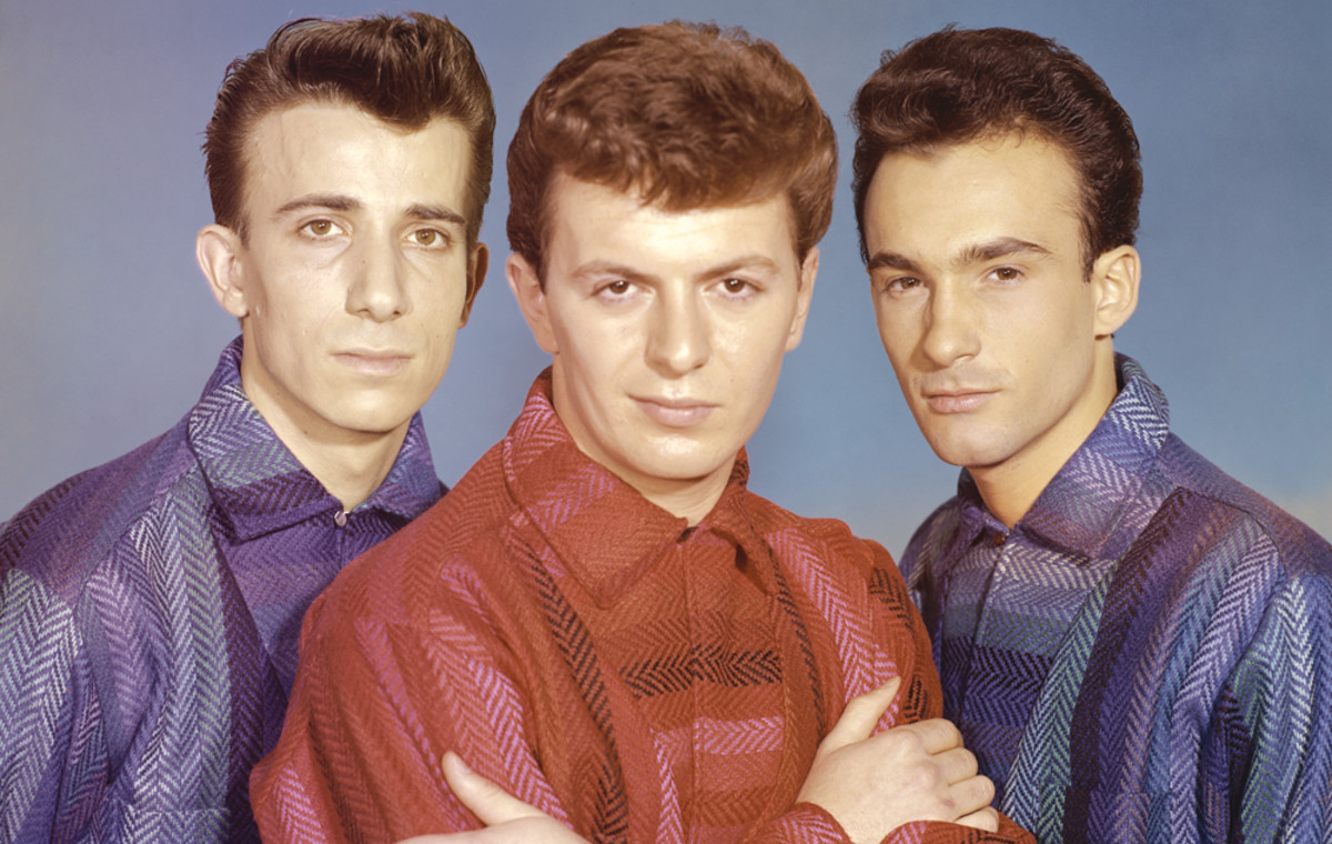 Dion and the Belmonts (L-R):Carlo Mastrangelo, Dion and Fred Milano. Photo byMichael Levin/Corbis via Getty Images