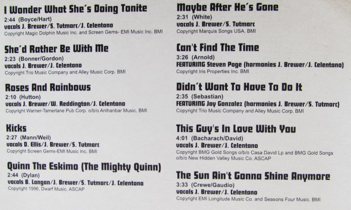 To Sing and Be Born Again song list
