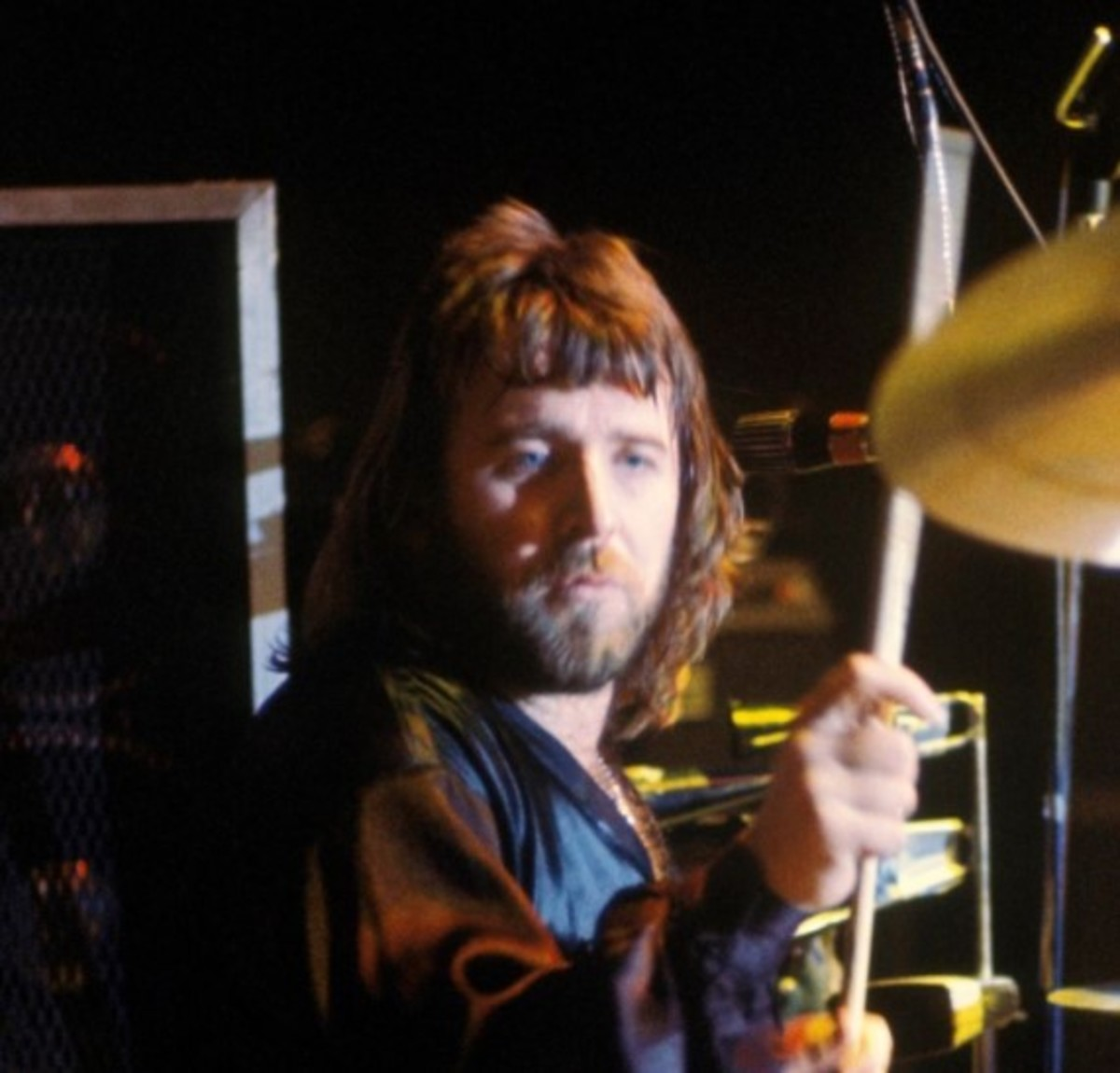 Lee Kerslake with Uriah Heep, 1970s, photo Fin Costello/Redferns, Getty Images