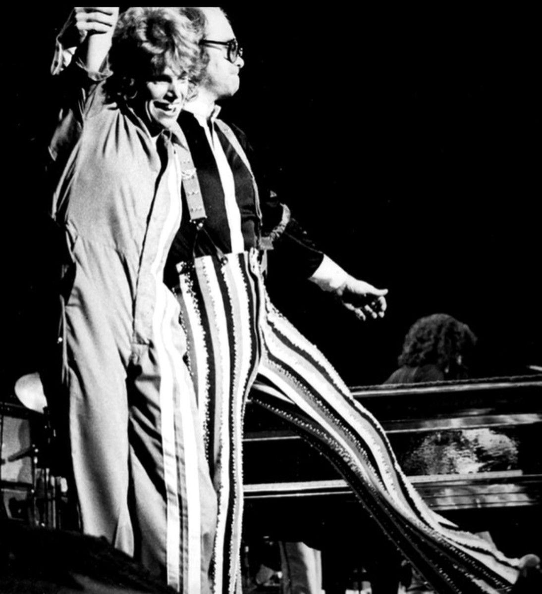 With Elton John, Rock of the Westies Tour, 1975-1976, The Gender Line documentary