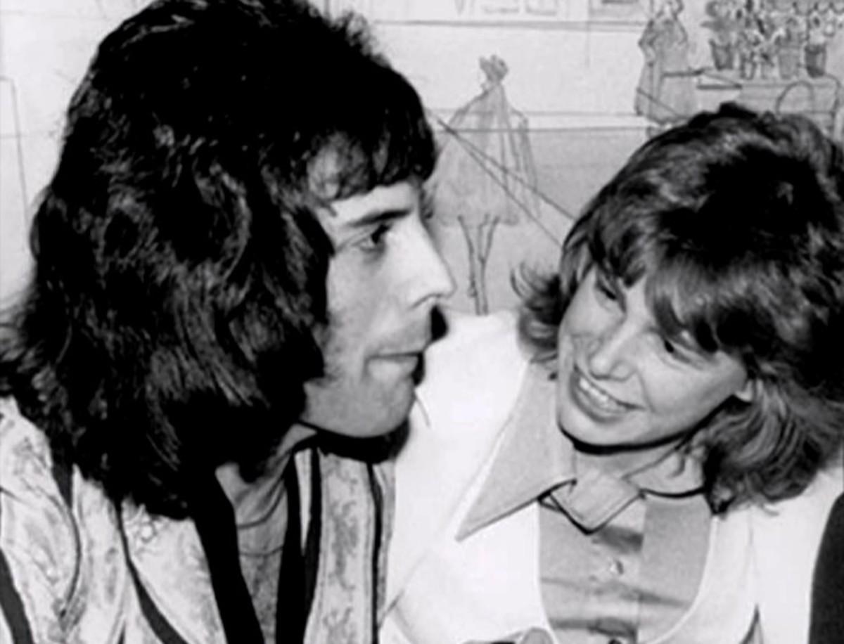 With Freddie Mercury, mid-1970s, The Gender Line documentary