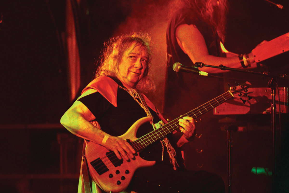 Steve Priest performs with Sweet at Backyard Bash 2018 at the Rainbow Bar & Grill on September 2, 2018, in Los Angeles. Photo byMichael Tullberg/Getty Images