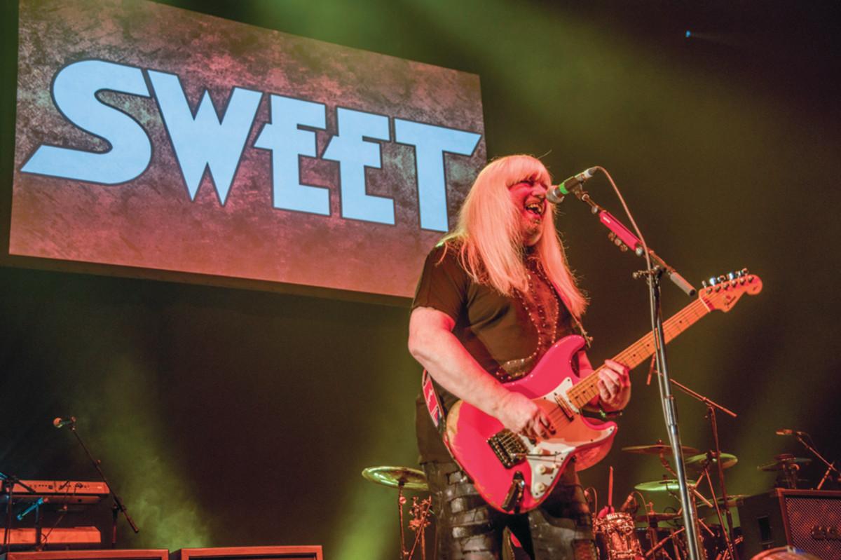 Andy Scott performs onstage at the Eventim Apollo, Hammersmith, London, December 14, 2016. Photo byDick Barnatt/Redferns