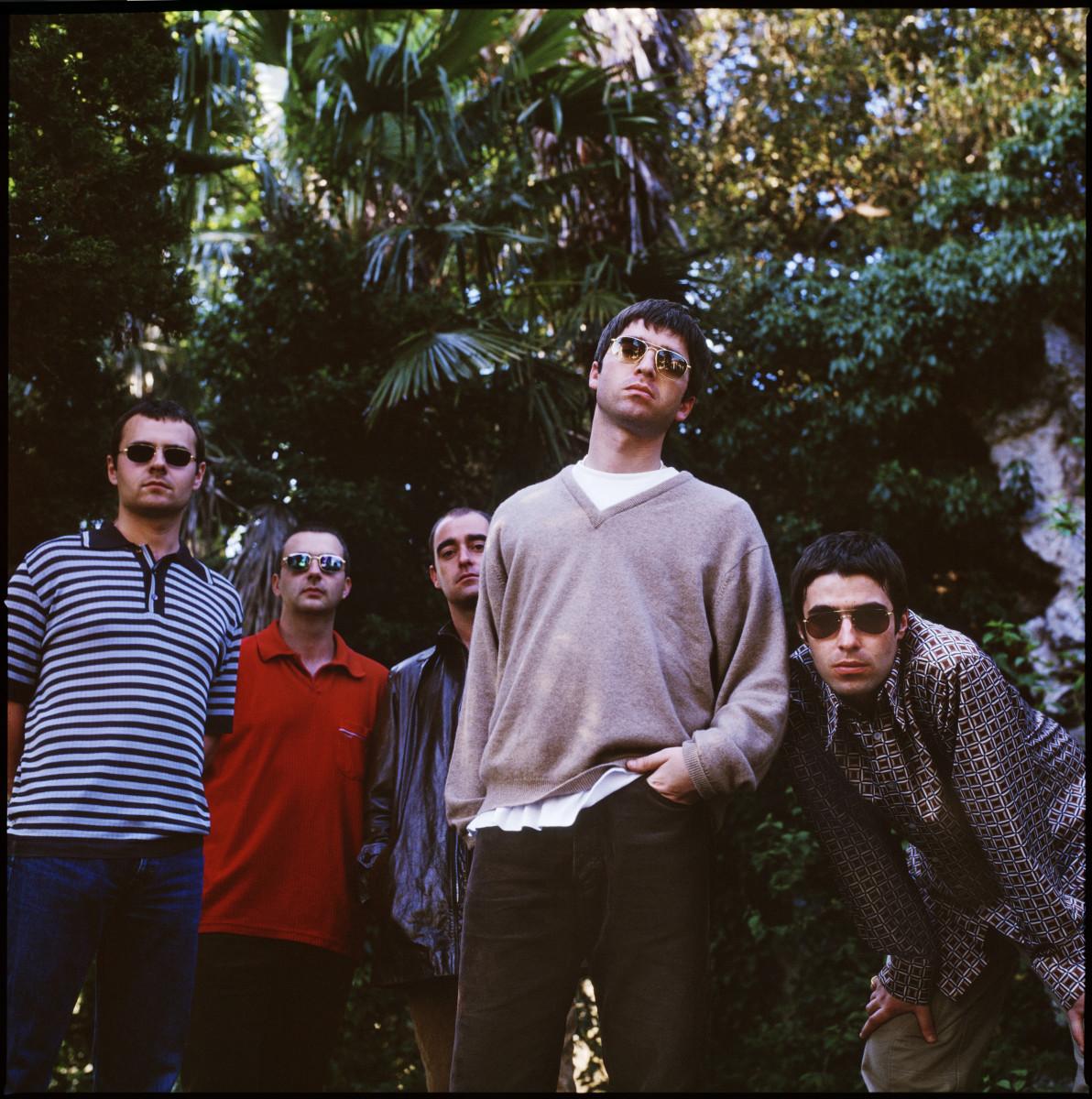 Oasis pictured in London in 1997. (Photo by Jill Furmanovsky)