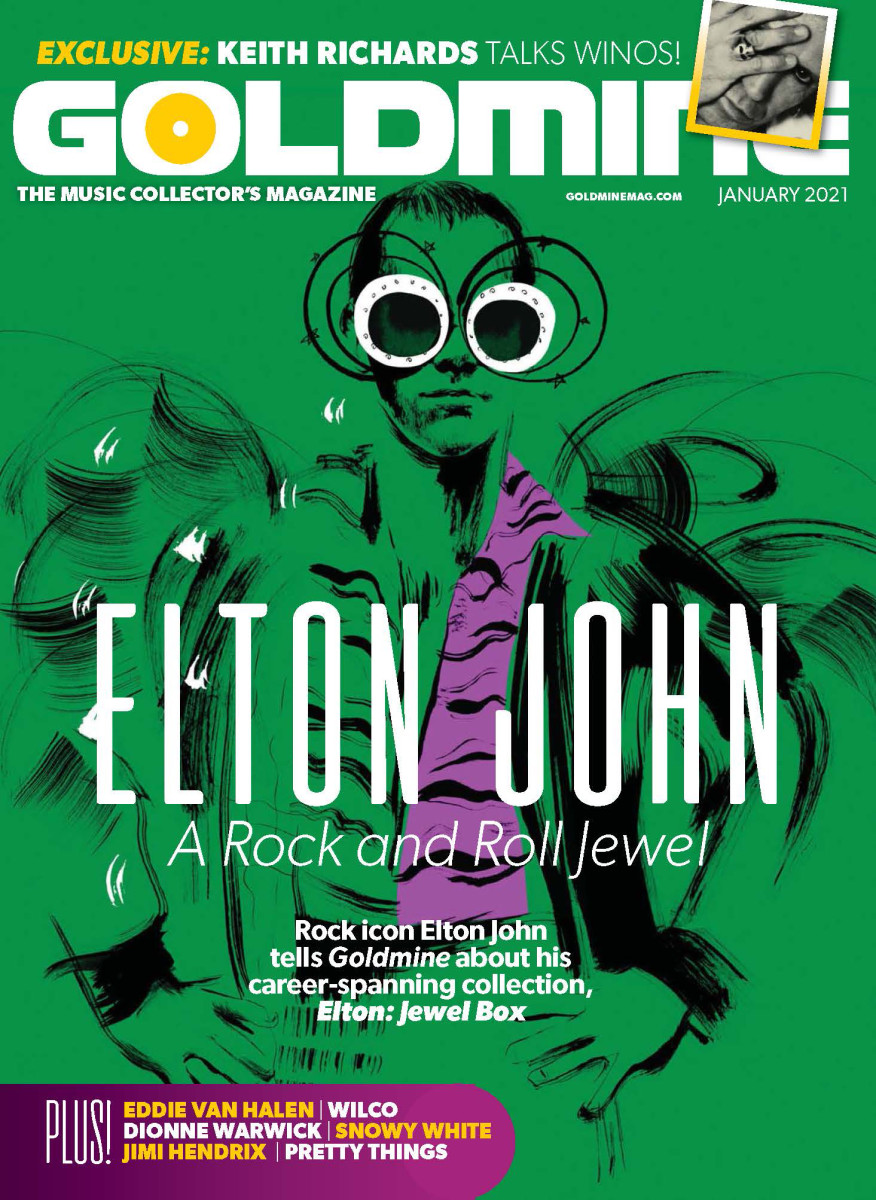 Goldmine's January 2021 issue with Elton John on the cover is available at select Barnes & Noble, Books A Million and record stores on December 1, 2020.