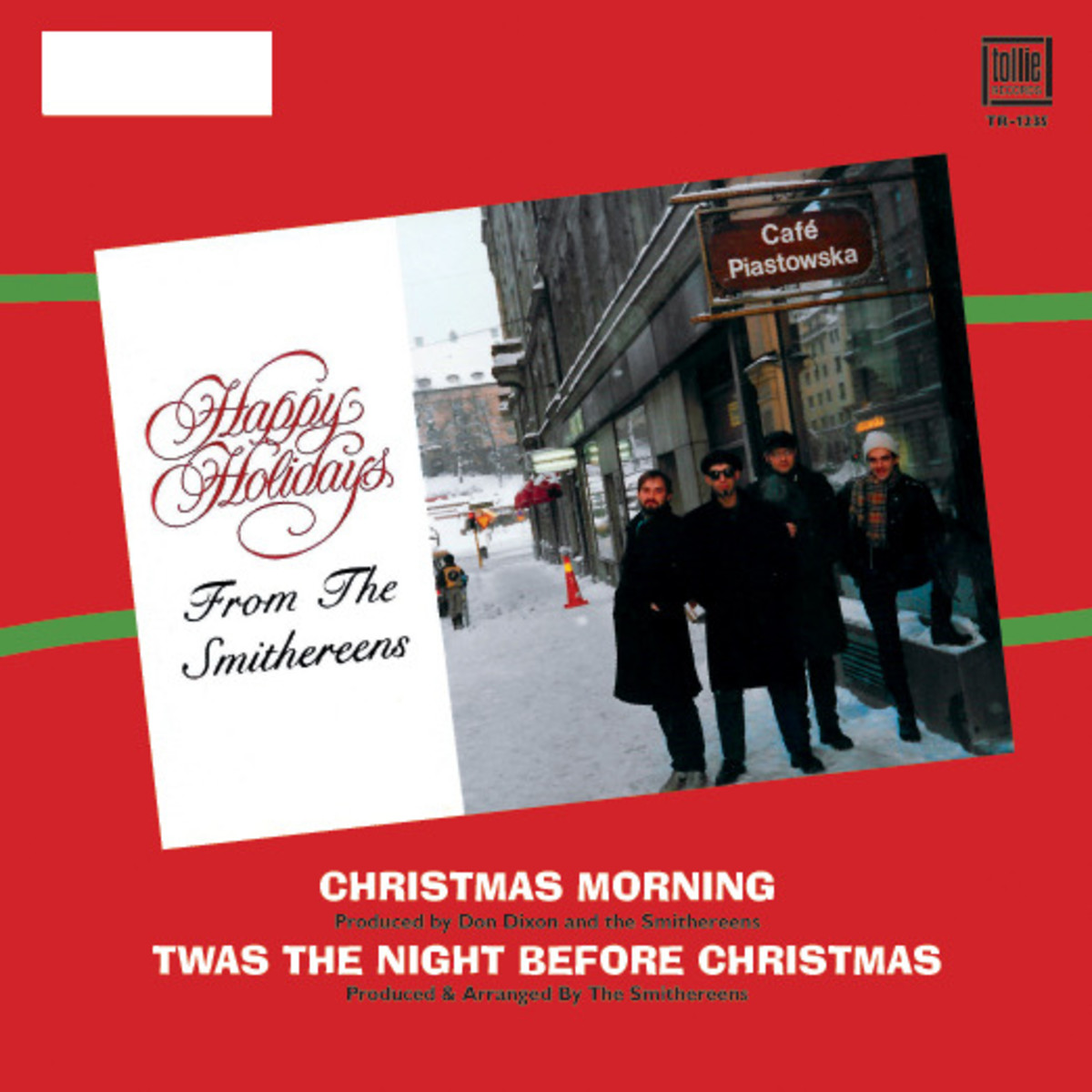 """The back cover of The Smithereens' """"Christmas Morning"""" single is shown here."""