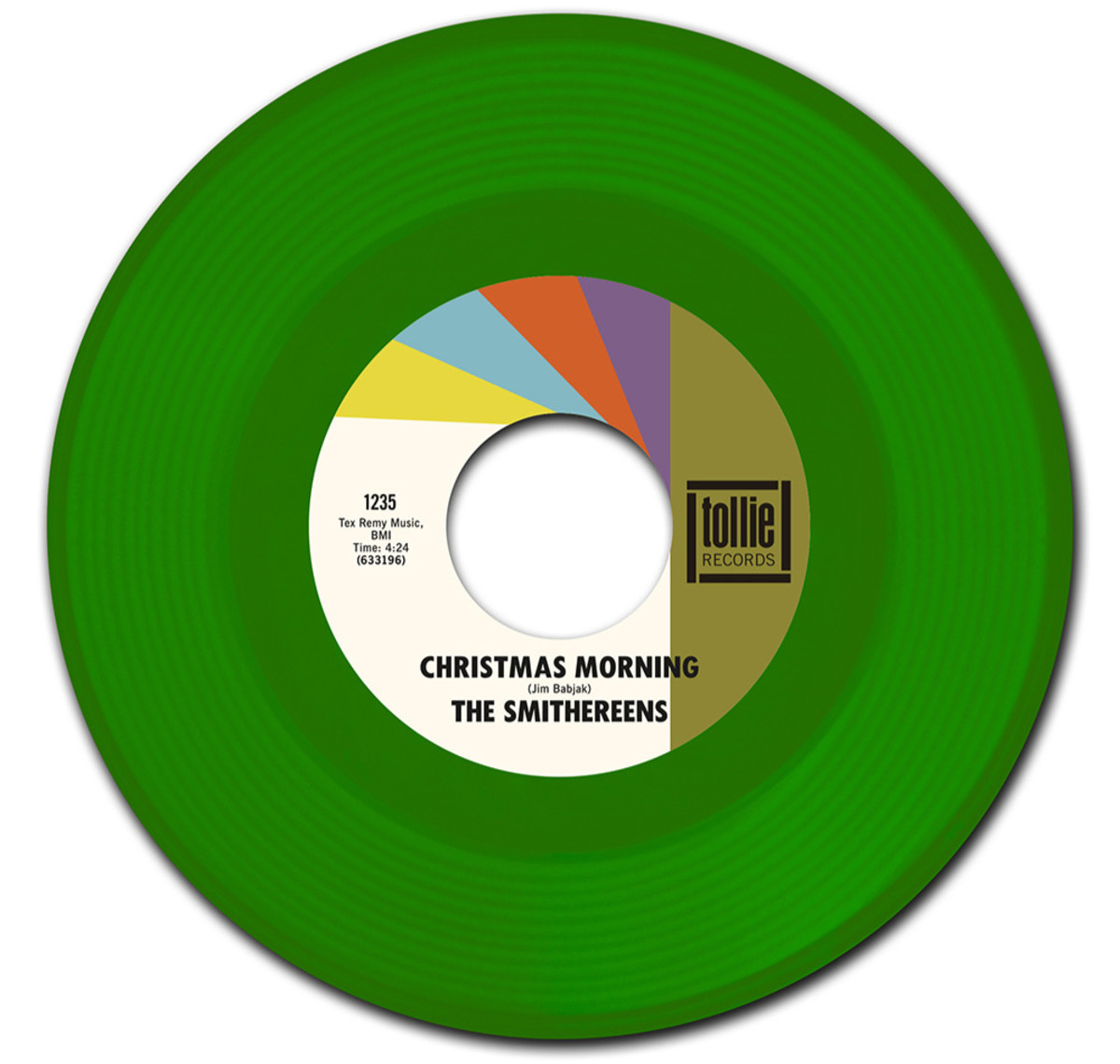 """The seven-inch, green vinyl 45-RPM version of The Smithereens' """"Christmas Morning"""" single is shown here."""