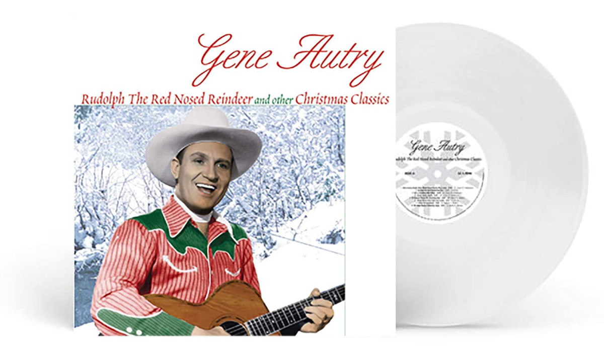 """Gene Autry's """"Rudolph the Red Nosed Reindeer and Other Christmas Classics"""" is another classic reissue, and on 'snowy white' vinyl."""