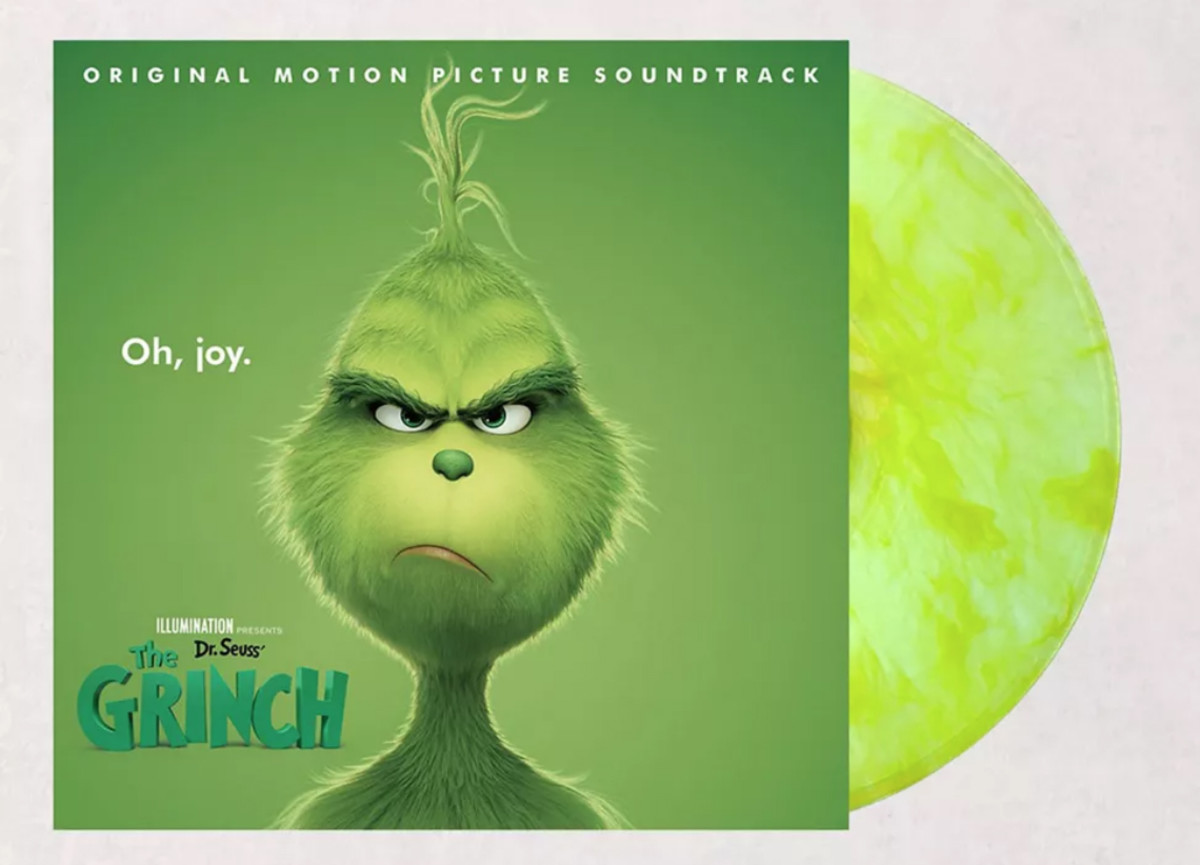Dr. Seuss' The Grinch: Original Motion Picture Soundtrack, on green vinyl,is an exclusive fromUrban Outfitters.