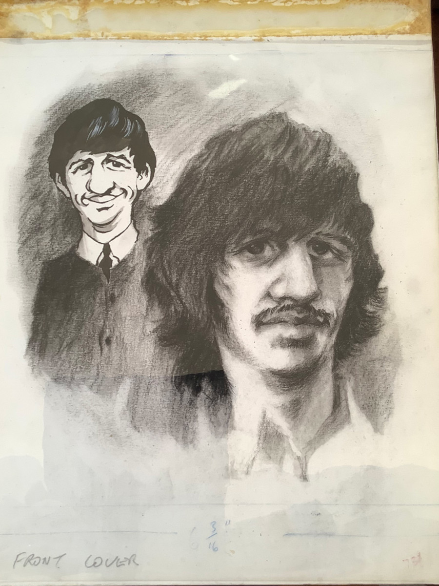 Original artwork from the cover of Beatles Monthly from April 1969