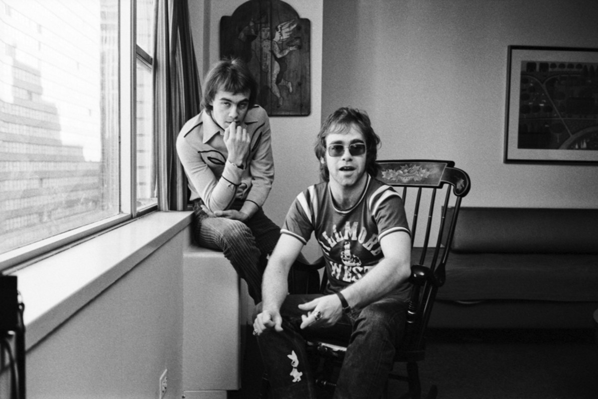 Elton John and his primary songwriting partner, Bernie Taupin.Publicity Photo