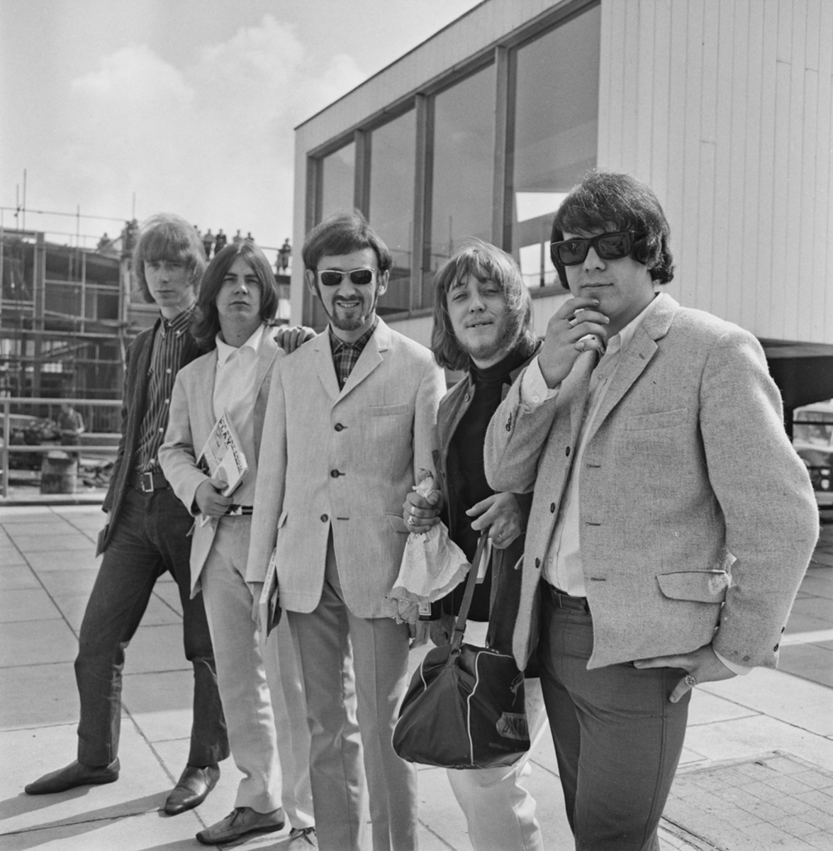 Pretty Things in 1965 (L-R): Guitarist Brian Pendleton, singer Phil May, guitarist Dick Taylor, drummer Viv Prince and bassist John Stax. Photo by M. Stroud/Express/Hulton Archive/Getty Images.