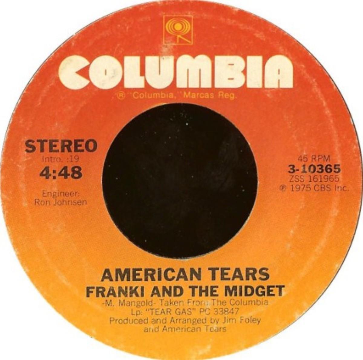 American Tears flip side