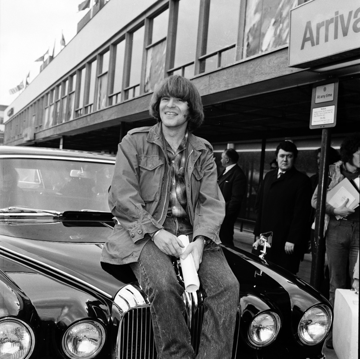 John Fogerty at Heathrow Airport, London, England, on April 7, 1970. Photo by Michael Putland/Getty Images.