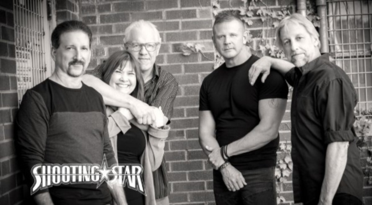 Shooting Star today, L to R: Chet Galloway, Janet Jamison, Dennis Laffoon, Todd Pettygrove and Steve Thomas