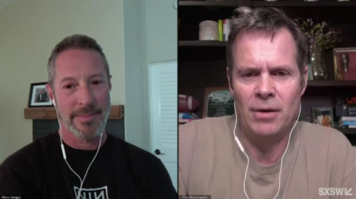 Left to right: SaveLive founder Marc Geiger and Sessions founder Tim Westergren