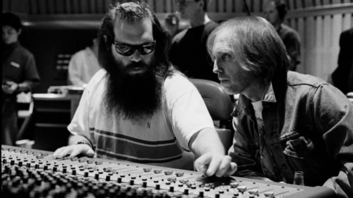 """Rick Rubin and Tom Petty in a scene from the documentary """"Somewhere You Feel Free."""""""