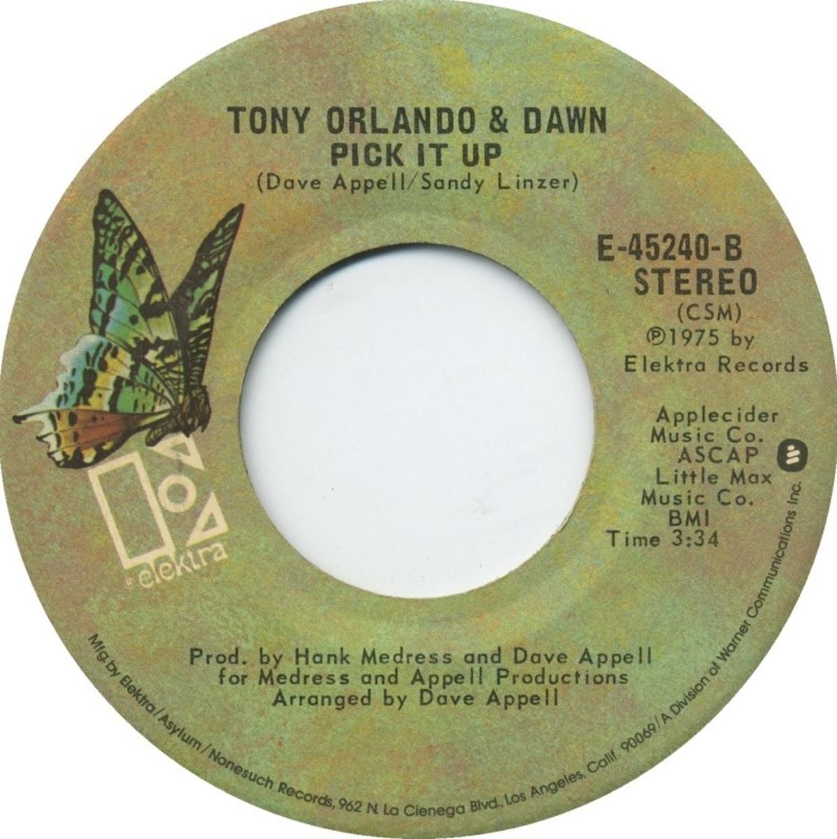 Tony Orlando flip side