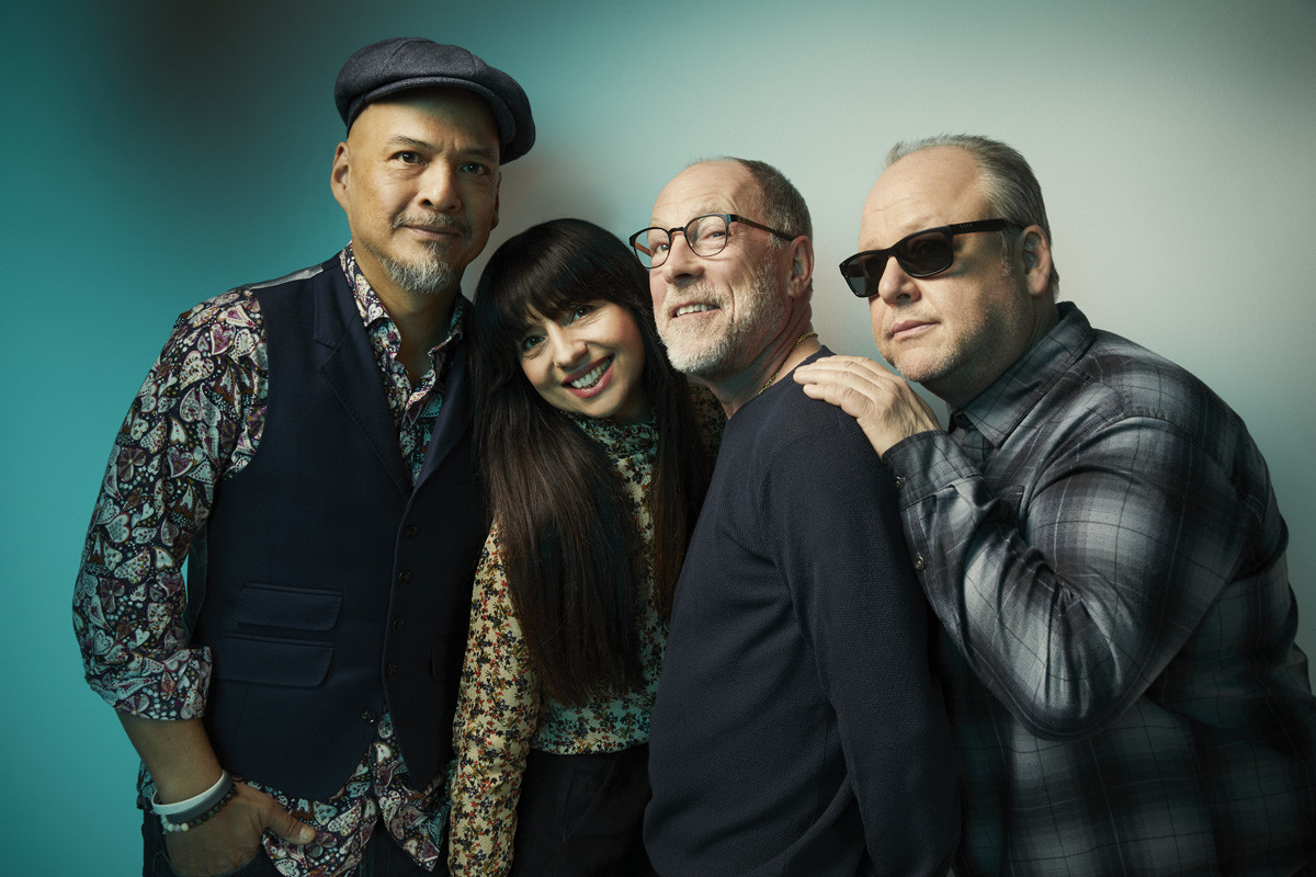 Pixies are (left to right) Joey Santiago, Paz Lenchantin, David Lovering and Black Francis. (Photo by Travis Shinn)