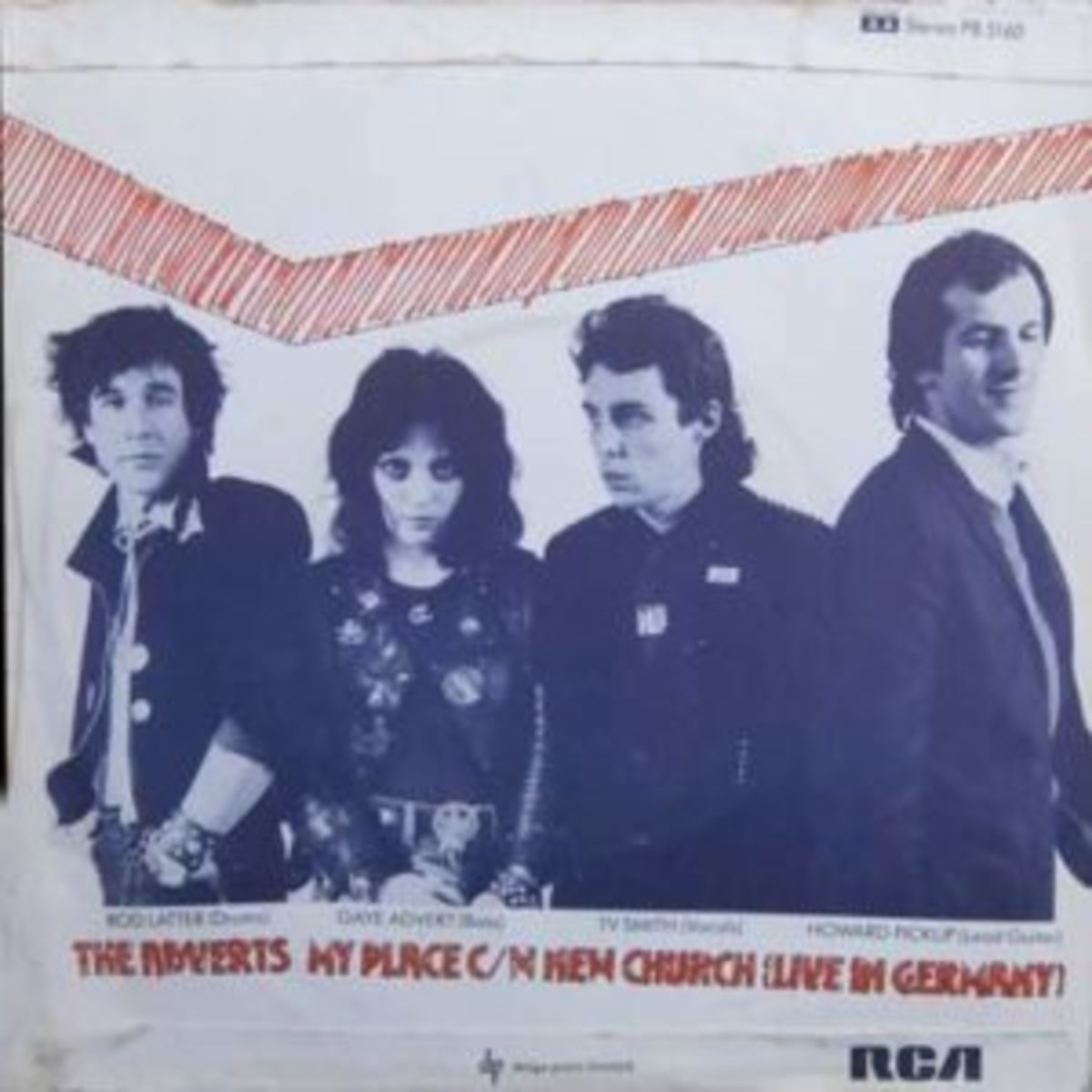Rod and the Adverts - lr: Rod, Gate Advert, TV Smith, Howard Pickupo