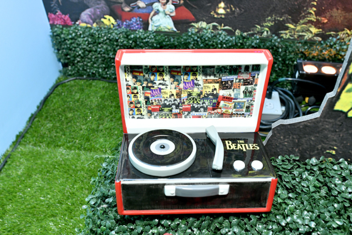 A Fab Four record player at The Beatles Pop-Up Shop launch for Holiday 2019 on December 10, 2019 in New York City. (Photo by Eugene Gologursky/Getty Images for Sony Music)