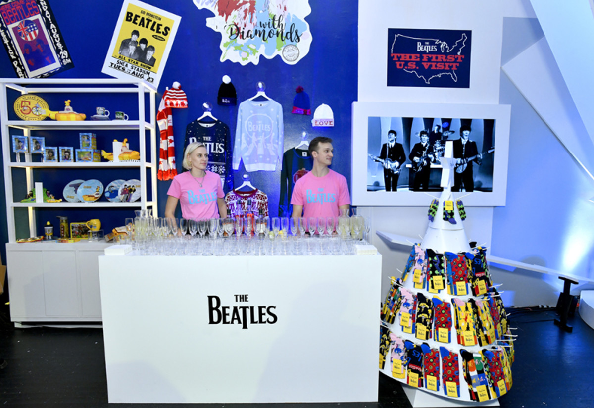A wide variety of merchandise at The Beatles Pop-Up Shop launch for Holiday 2019 on December 10, 2019 in New York City. (Photo by Eugene Gologursky/Getty Images for Sony Music)