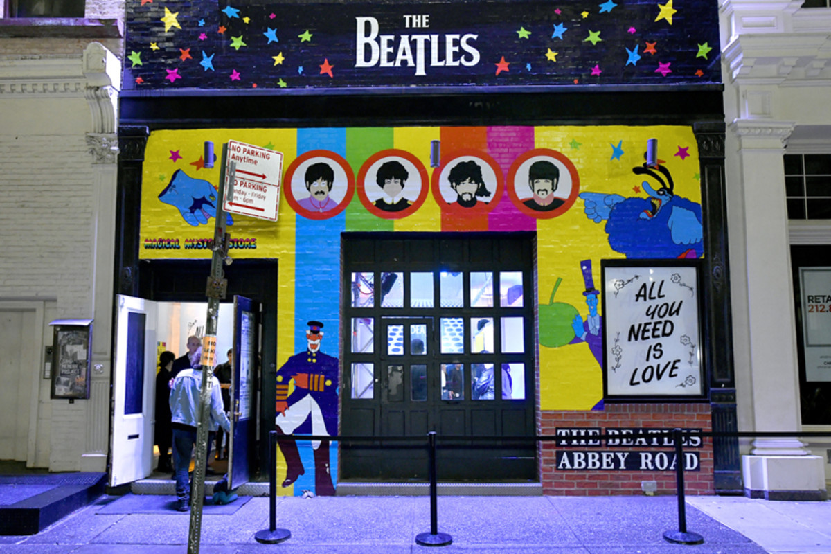 A view of the exterior at The Beatles Pop-Up Shop launch for Holiday 2019 on December 10, 2019 in New York City. (Photo by Eugene Gologursky/Getty Images for Sony Music)