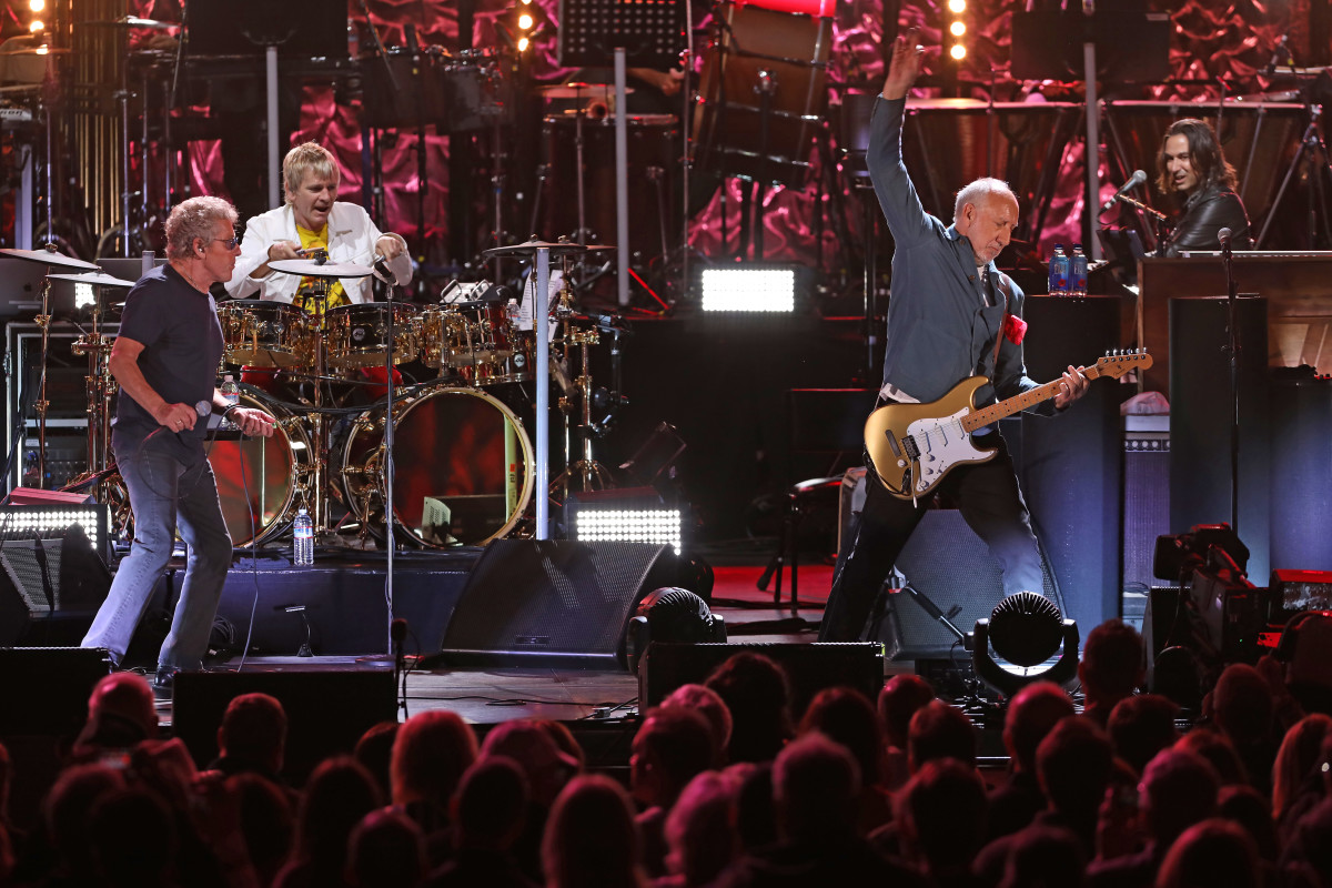 Roger Daltrey (left) and Pete Townshend, shown performing at The Hollywood Bowl on October 13, 2019, participated in a documentary from Cincinnati's WCPO-TV about the December 3, 1979 concert tragedy outside of a concert by the band at Cincinnati's Riverfront Coliseum. (Photo by Randall Michelson)