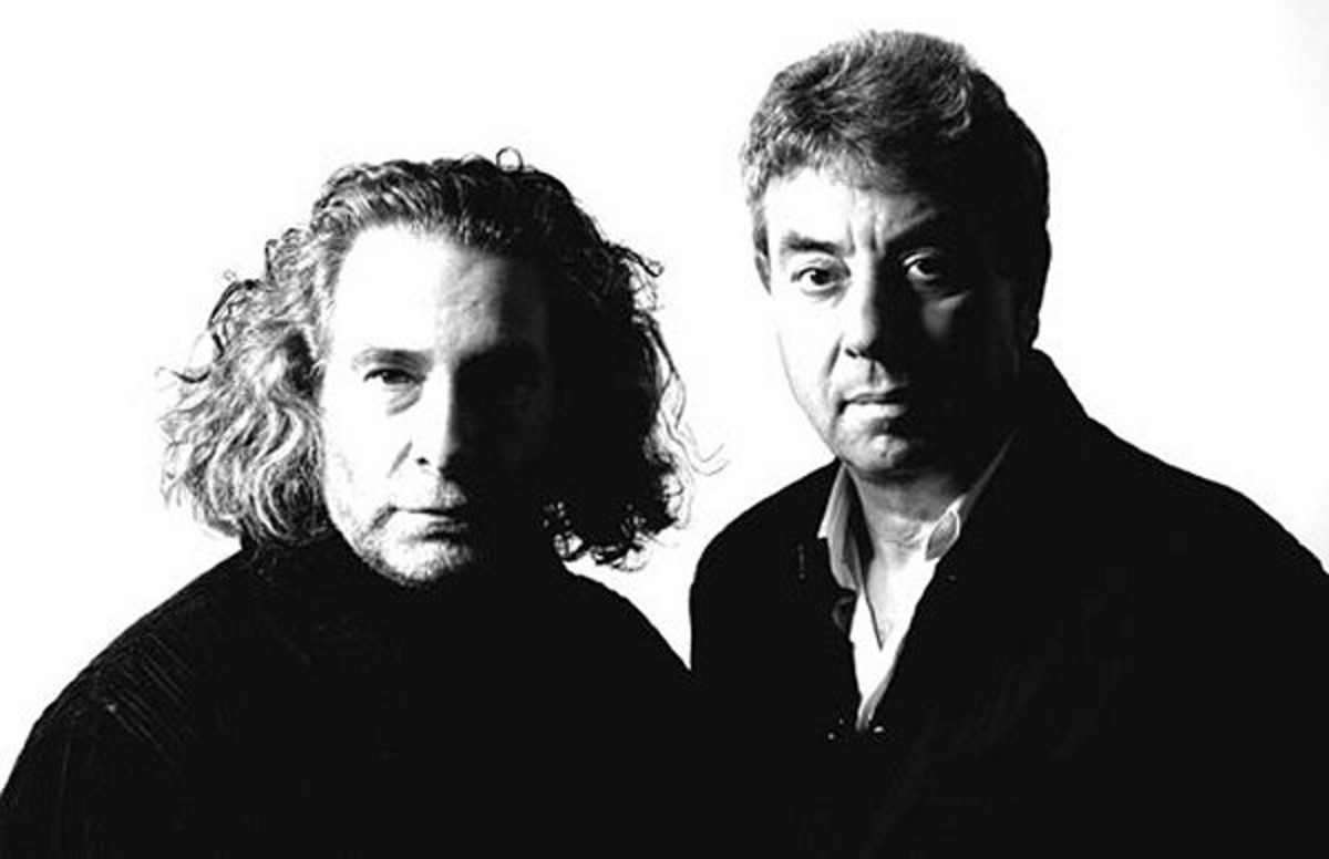 Publicity photo of GG/06 (L-R) Kevin Godley and Graham Gouldman.