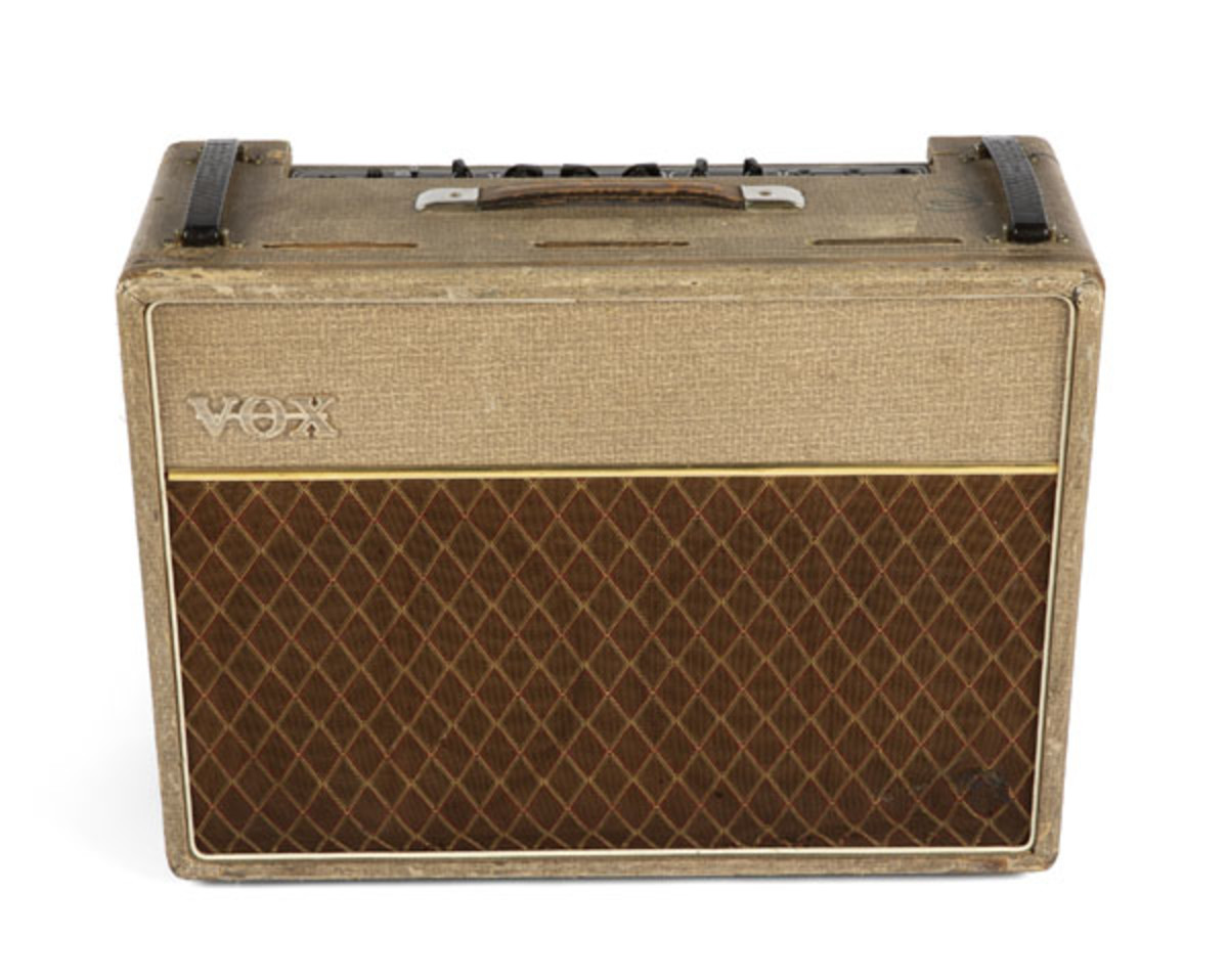 Bill Wyman's 1962 VOX AC30 'Normal' model amplifier
