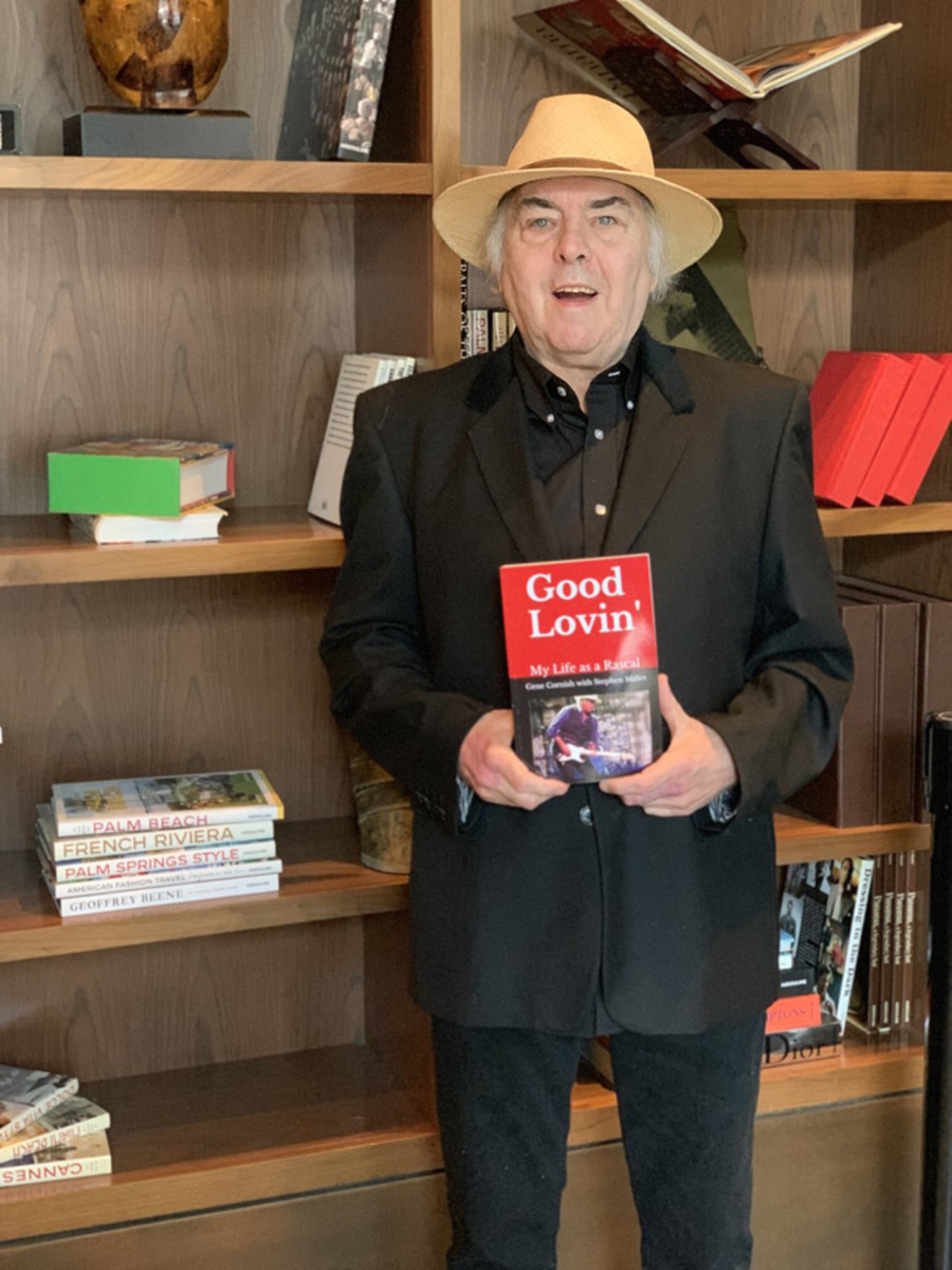 Gene Cornish of Rascals fame poses with his autobiography, Good Lovin': My Life as a Rascal.