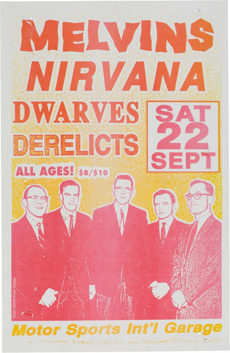 1990 Vintage Concert Poster Screaming Trees Soundgarden