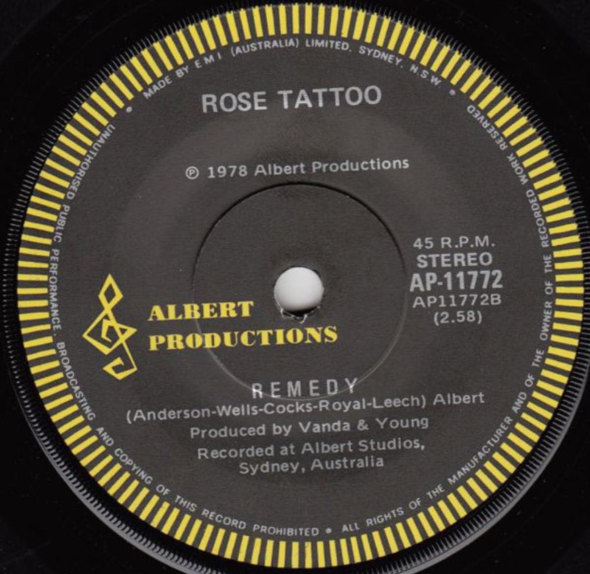 Rose Tattoo flip side