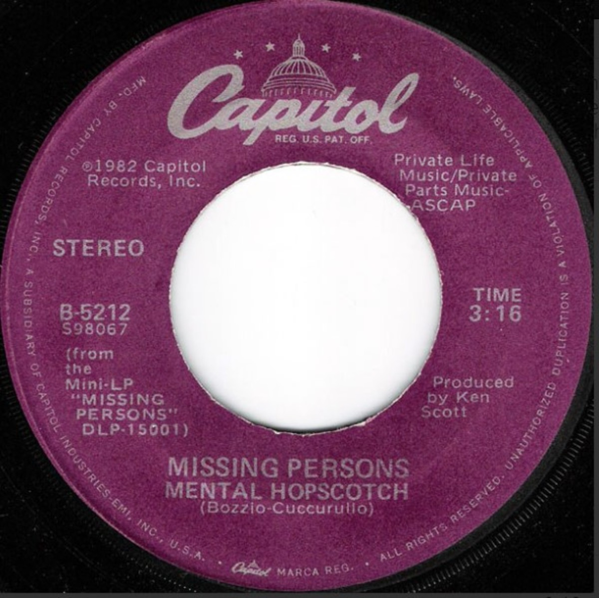 Missing Persons flip side