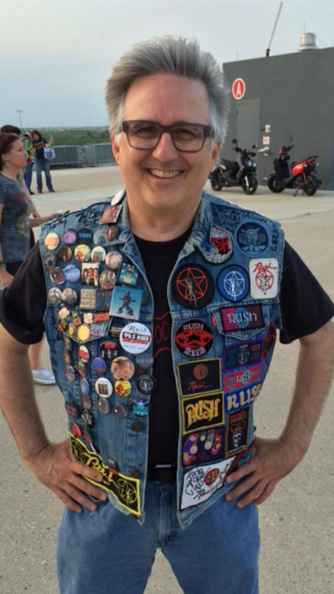 Author Rush Evans with his RUSH-themed denim jacket.
