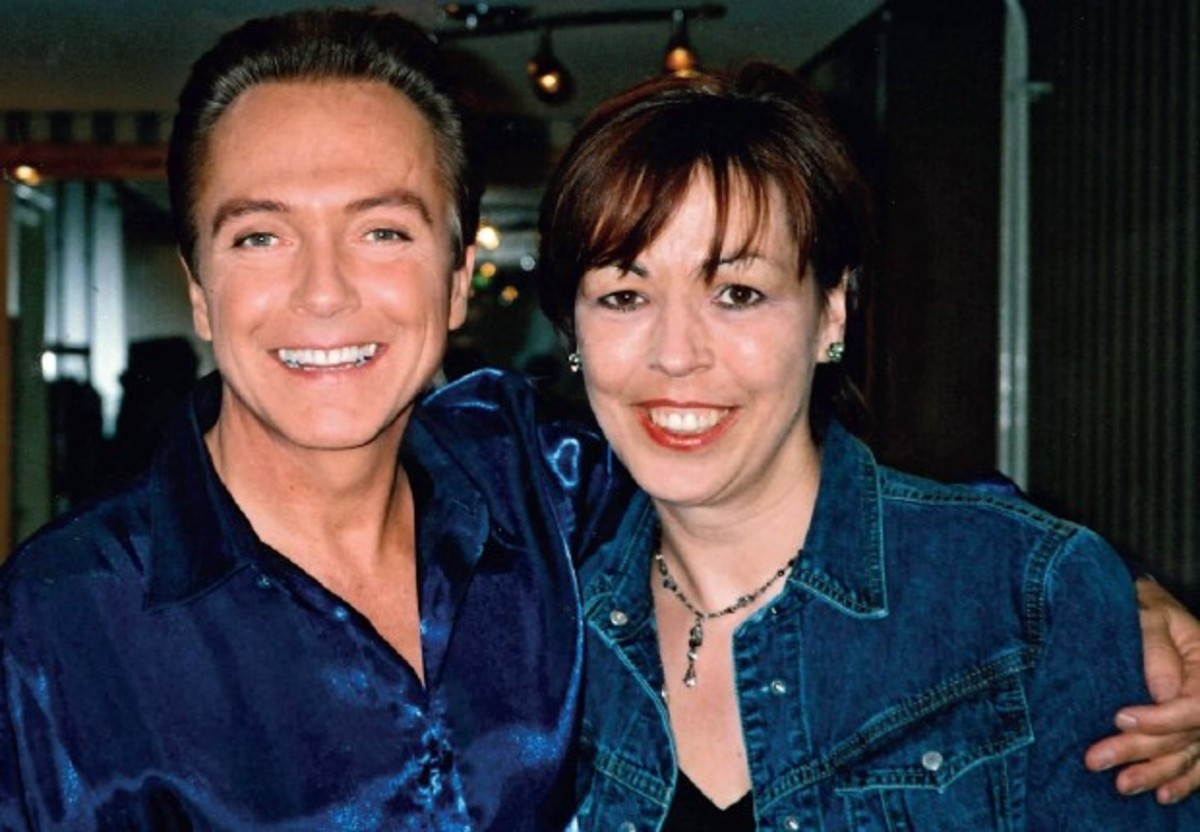 David with Karen Byrom in Glascow, 2002, courtesy of Louise Poynton and Unicorn