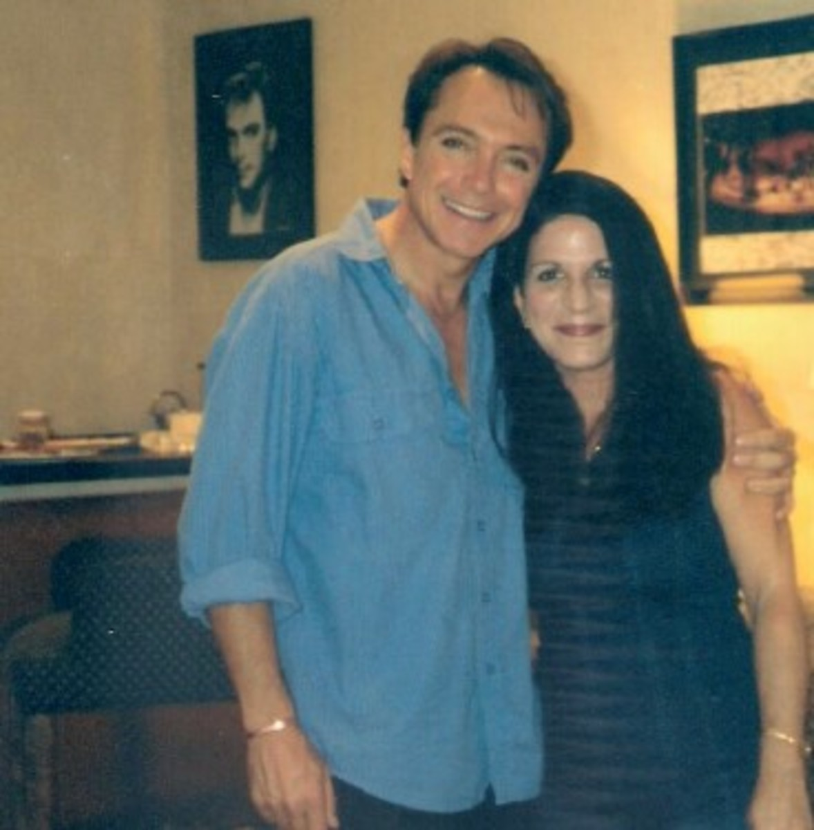 David with Yasmin Wendling in Las Vegas, courtesy of Louise Poynton and Unicorn