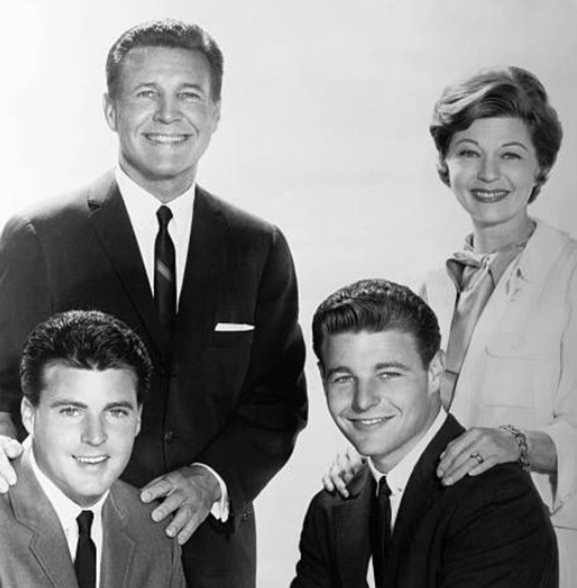 Top row: Ozzie and Harriet, bottom row: Ricky and David