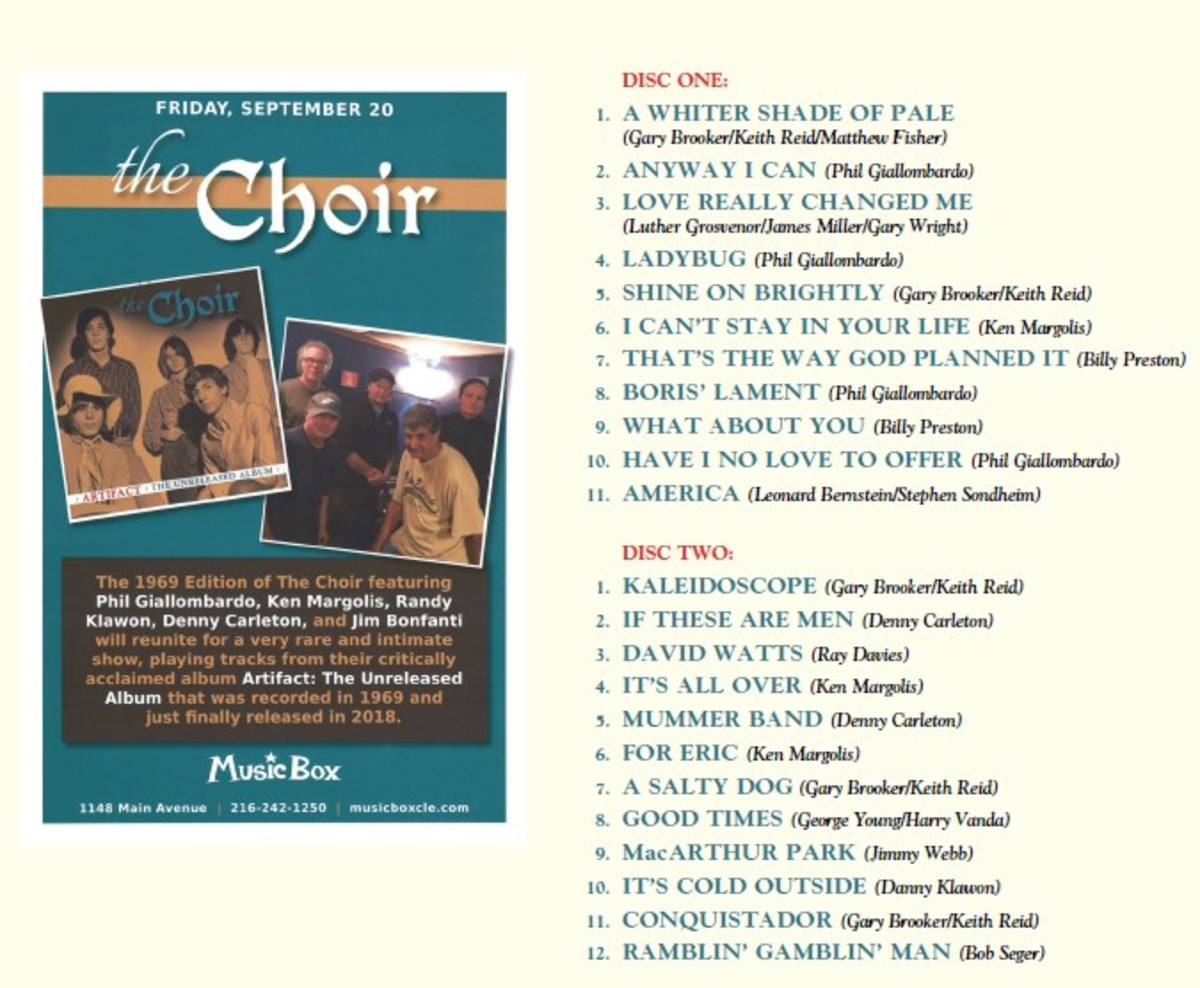 Choir back cover